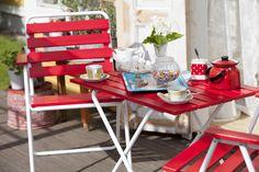 Retro Ulkokalustesetti - Varax Stol 305 och bord 401 Utemöbel - Varax chair 305 and table 401 retro garden set Retro, Chair, Garden, Table, Furniture, Home Decor, Garten, Decoration Home, Room Decor