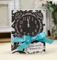 The Clock Strikes 12...  Fiskars Fuse Creativity System, Unity Stamps, New Years Card.