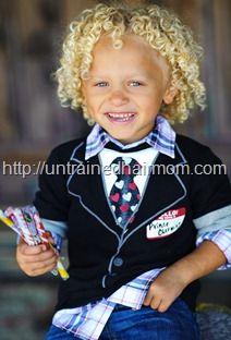 biracial blonde curls