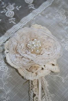 lace... doilies... ol pearls or new