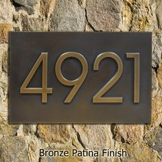Modern Home Address  Advantage Numbers - 4 House Numbers 13x8 inches Custom for you by Atlas Signs and Plaques