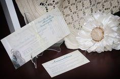 Vintage, romantic wedding invitation