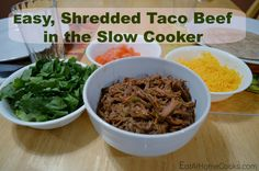Easy, Shredded Taco Beef in the Slow Cooker