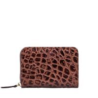 Maxwell Scott The Forino Coco Women's Medium Leather Purse Chocolate Brown