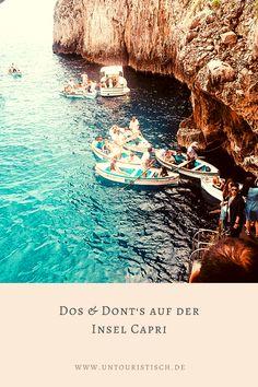 Was solltet ihr unbedingt auf eurer Entdeckungstour einplanen und was ist einfach zu touristisch? Erfahrt es hier! #capri #italien #italienreise Reisen In Europa, Hotels, Box, Capri Italy, Vacation Package Deals, Day Trips, Tourism, Travel Report, Boxes