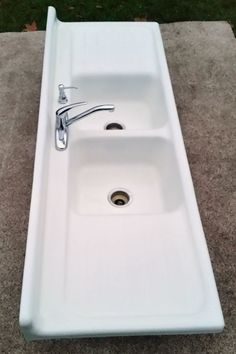 Cast Iron Kitchen Sink Manufacturers Antique vintage cast iron farm kitchen sink usakohler 1948 cast iron farm sink 1954usaoriginal porcelain excellent workwithnaturefo