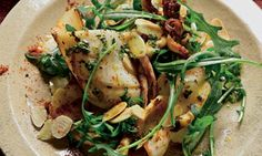 Squid with almonds and smoked paprika