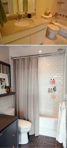 simple and classic bathroom makeover