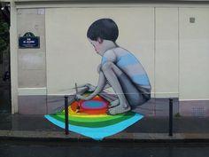當你看完這位曾經來台的法國藝術家在世界各國建築留下的作品,就會相信他說的「畫畫能改變世界」!% 照片