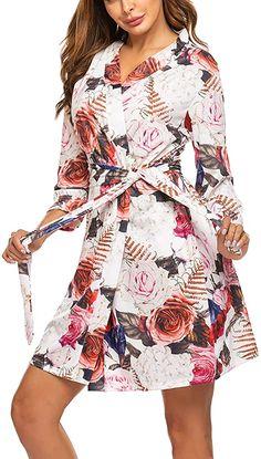 Hotouch Women Kimono Robes Cotton Lightweight Robe Short Knit Bathrobe Soft Sleepwear Ladies Loungewear S-XXL Best Shapewear For Tummy, Short Kimono, Night Gown, Lounge Wear, Wrap Dress, Nursing, Night Wear, How To Wear, Body Heat
