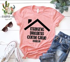 Making dreams come true Realtor Real Rstate Realtor Shirt by HarperCoApparel on Etsy Real Estate Career, Real Estate Business, Real Estate Tips, Selling Real Estate, Real Estate Marketing, Mascara, Realtor Signs, Real Estate Quotes, Real Estate License
