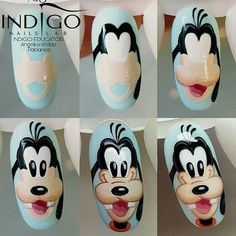 nail art designs 2019 nail designs for short nails step by step nail art stickers online nail art stickers how to apply nail stickers walmart Cartoon Nail Designs, Nail Art Designs Videos, Nail Art Videos, Cute Nail Art, Cute Nails, Pretty Nails, Diy Ongles, How To Do Pedicure, Mickey Nails