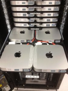 160 Mac minis crammed into custom 2′ x 2′ datacenter rack