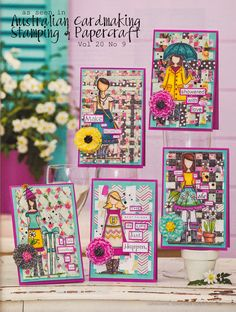 Stamps Paper Happiness: In Review: Cover Girl--Woven Wonders!