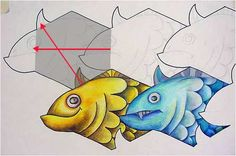 Tessellations - how to do it!!!  Might be great for my commercial art class for SHAPE unit.  Need to try this!