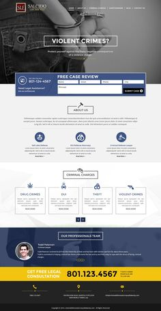 criminal defense lawyer responsive landing page design   attorney ...
