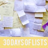 30 Days of Lists - prompts for journaling in lists for a month, make into a mini book