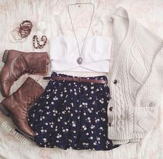 Skirt & sweater