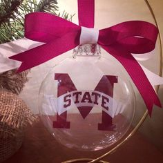 Mississippi State Ornament by SouthernStencil on Etsy