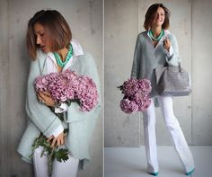Galant-Girl E. Fashion Over 50, Look Fashion, Girl Fashion, Fashion Outfits, Womens Fashion, Gamine Style, Monochrome Outfit, Colour Pallete, Elegant Outfit