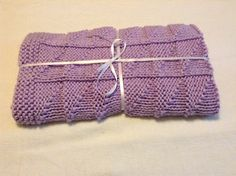 Hand knit purple baby blanket, easy to wash and dry hand knitted baby blanket, car seat baby blanket, stroller baby blanket by Michellesknitknacks on Etsy