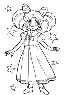 ChibiUsa Coloring Page Find This Pin And More On Sailor Moon Book