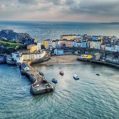 The image that started it all! This was one of my first images from above Tenby that was posted in early The response was so positive that Up Looking Down was born. Wales Beach, Welsh Castles, Pembrokeshire Coast, Visit Wales, Snowdonia, City Landscape, Tours, Places Of Interest, South Wales
