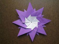 Origami Modular Sun Step 21