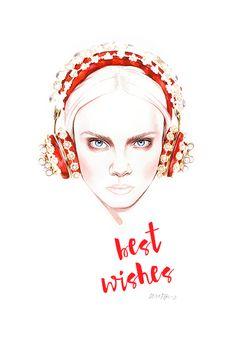 Dolce Gabbana fashion illustration by António Soares