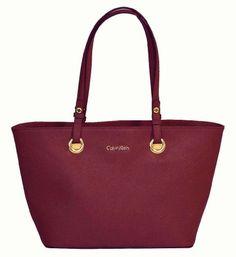 Calvin Klein Saffiano Leather Tote Handbag CK Purse - http://handbagscouture.net/brands/calvin-klein/calvin-klein-saffiano-leather-tote-handbag-ck-purse/
