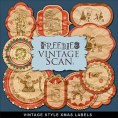 Far Far Hill - Free database of digital illustrations and papers: New Freebies Kit of Vintage Style Labels
