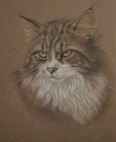 Coloured pencil drawing.