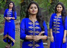 Reshmi Menon Blue Churidar | Indian Dresses