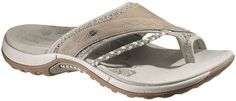 Merrell Hollyleaf - The Merrell Hollyleaf isn't your typical flip-flop. This lightweight sandal offers comfort and functionality with it's easy slip on style. The innovative Q-Form midsoles designed specifically for women in these shoes ensures that you will be walking with the support you need. Available in a variety of colours.