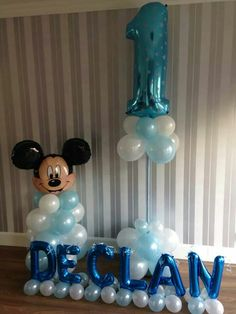 #mickey #theme #balloons #bellissimoballoons Mickey Mouse 1st Birthday, 1st Birthday Party Themes, Baby Mickey, Mickey Party, 1st Boy Birthday, Birthday Balloons, Birthday Party Decorations, Mickey Mouse Decorations, Balloon Decorations Party