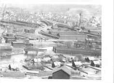 Downtown Sheffield, Pa., pre-1920 when tanneries and timber were the big business.