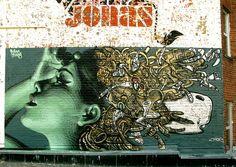 el mac and david choe graffiti El Mac Upper Playground Robert Berman Gallery Retna Mac interview Gallery El Mac David Choe Carvaggio Alianza Graffiti Art, Graffiti Images, Street Graffiti, Graffiti Piece, Urban Graffiti, 3d Street Art, Urban Street Art, Street Artists, David Choe