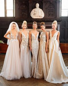 Now THAT'S a lineup! Which Berta Bridal beauty would you pick for your big day?   WedLuxe Magazine   #WedLuxe #Wedding #luxury #weddinginspiration #luxurywedding #fashion #weddinggown #weddingdress