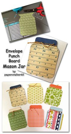 Grab an Envelope Punch Board, some paper scraps & get ready … these Mason Jars created by papercrafter45 are addictively fun to make!
