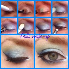 Acqua marina eyes make-up