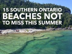 15 southern Ontario beachs not to miss this summer > Flowerpot Island - Tobermory Ontario Camping, Ontario Travel, Toronto Travel, Weekend Trips, Day Trips, Beaches In Ontario, Places To Travel, Places To See, Travel Destinations