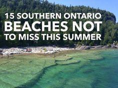 15 southern Ontario beachs not to miss this summer > Flowerpot Island - Tobermory Ontario Camping, Ontario Travel, Toronto Travel, Weekend Trips, Day Trips, Beaches In Ontario, Flowerpot Island, Voyage Canada, Toronto Island