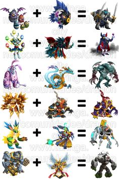Bildergebnis für monster legends combinaciones