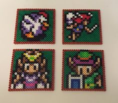Legend of Zelda - A Link to the Past Super Nintendo Perler Bead Coasters | eBay