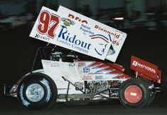 "Aaron, ""the Element"" Berryhill rides in his 2003 machine at Devils Bowl Speedway (Jim Fleming)"