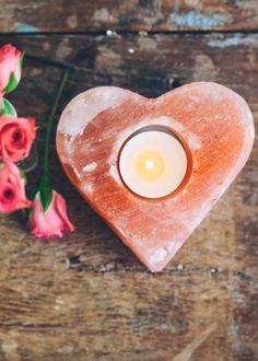 Rock Salt Heart Candleholder from SoulMakes