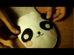 DIY: How To Sew Kawaii Panda House Slippers from Felt by HapyFriendsShoppe
