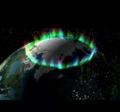 Ring of Fire - picture taken from space by NASA of the Northern Lights.