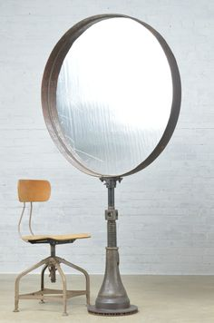 Vintage Antique Industrial Objects Repurposed Mirror Art Store Display Steampunk | eBay $1200
