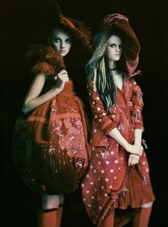 'So Splendid and Magic',Caroline Trentini andHeather MarksbyPaolo Roversi, Vogue Italia Couture Supplement March 2005.  Both dresses are from Christian Dior Spring Summer 2005 Haute Couture. From left to right: [1] [2]